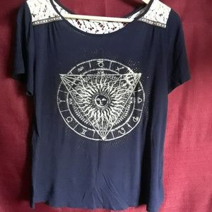 MoonChild, Blue Astrology Graphic Tee